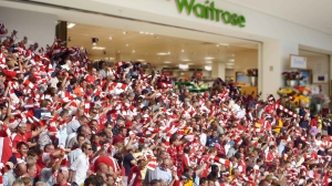 Arsenal fans stock up for the big game.